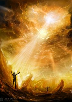 Speed paint by LouisDyer on DeviantArt Christian Images, Christian Art, Art Amour, Heaven Art, Pictures Of Jesus Christ, Spiritual Images, Prophetic Art, Jesus Art, Biblical Art