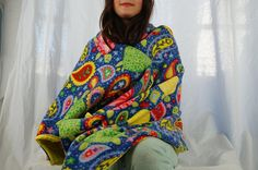 Paisley turtle fleece blanket throw blanket lap blanket