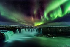 A really amazing and coloured Aurora over Godafoss waterfall, with a vision of this kind you could rest without word...  If you want to see more photos, please follow me.