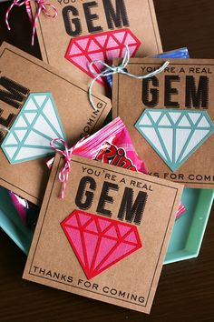 GEMS girl gifts - using Silhouette to cut shapes. Look for GEM stickers??