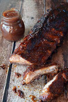 Apple Butter BBQ Ribs.  No matter when you grill, it's gotta be these succulent ribs! | blog.hostthetoast.com #Bbqribs