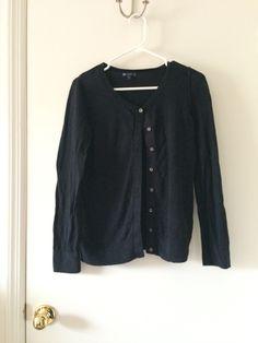 Own - plain black cardigan