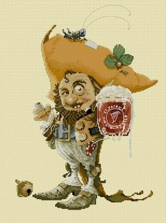 Cross Stitch Chart Cheers by Jean-Baptiste Monge
