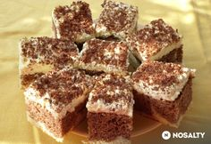 Bögrés túrós-kávés szelet | NOSALTY Diy Food, Cake Cookies, Tiramisu, Cake Recipes, Recipies, Food And Drink, Ethnic Recipes, Sweet, Cheese