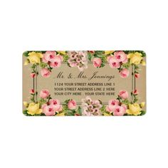 The elegant vintage floral wedding collection is a stunning design featuring lovely vintage style flowers. These labels can be personalized for your special occasion and would make the perfect item for any wedding, bridal shower, engagement party, birthday party and much, much more.