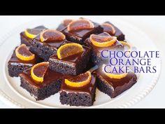 Chocolate Orange Cake Bars - YouTube