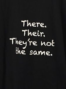 Grammer Police Shirt Their There They're not The Same Black Mens Shirt L English | eBay