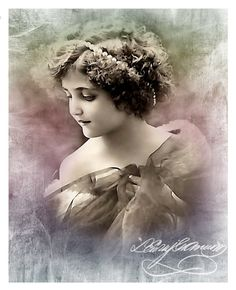 Vintage Photo Art Studio : Buzie jak aniołki