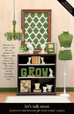 Who knew moss could be so crafty? These earthy DIY projects include quirky letters, funky artwork and even a chandelier!