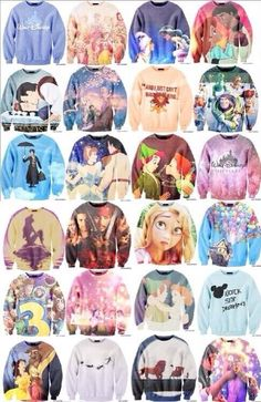Disney sweaters  I NEED ALL OF THESE!