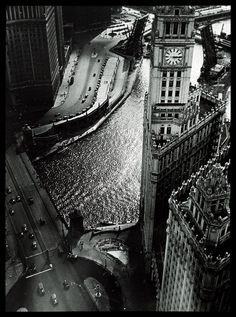 N Michigan and Wacker, 1933, Chicago