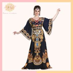 Summer prints that look great all year long!  Our Summer Printed Kaftans are light-weight, versatile and absolutely stylish.  Product no: 8260  Shop now via the link. Kaftan Abaya, Kaftans, 3 4 Sleeve Dress, Summer Prints, Party Wear, Looks Great, Ball Gowns, Satin, Elegant