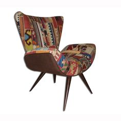 Frida Chair Kilim Patch Brown