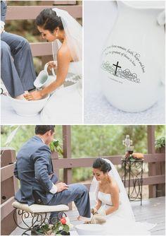 oak canyon nature center God honoring wedding_ foot washing ceremony