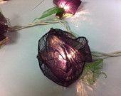 20 Black emo handmade real leaf Rose flower leaf string light patio decoration wedding bedroom living room party lantern