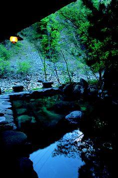 Yunohira hot spring, Gunma, Japan Wonderful Places, Beautiful Places, Japanese Hot Springs, All About Japan, Japanese Bath, Gunma, Outdoor Baths, Spring Resort, Japan Travel