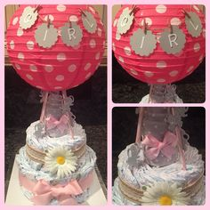 Hot Air Balloon Diaper Cake