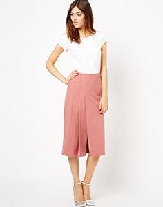 Image 1 ofASOS Longline Kilt Midi Skirt
