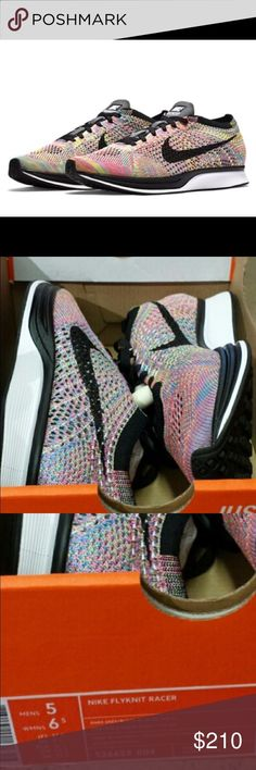 Rare! Nike Flyknit Racer multicolor These are completely sold out in stores, rare find! They are a unisex shoe  size 6.5 in womens. Come in their half box as shown   More pics to come! Nike Shoes Athletic Shoes