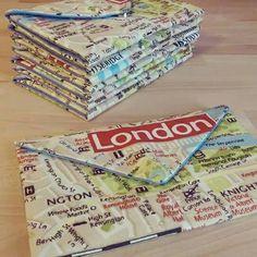 London Map Print Clutch Purse Evening Bag by ditsybritishcraft