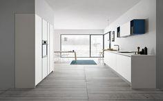 Contemporary kitchen / wood veneer / laminate / island - ASPEN - DOIMO CUCINE - Videos
