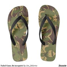Faded Camo. Be incognito! Flip Flops