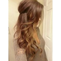 35 Bang Styles for Long Hair ❤ liked on Polyvore featuring beauty products, haircare, hair styling tools, hair and hairstyles
