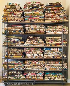 """Welcome to Laundry Basket Quilts! I'm Edyta Sitar; the designer behind the quilts, fabrics, patterns, and books for our small business """"Laundry Basket Quilts"""". Craft Ribbon Storage, Craft Room Storage, Craft Organization, Craft Rooms, Organizing, Laundry Basket Quilts, Quilt Display, Shabby Chic Crafts, Quilting Room"""