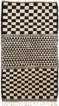 Moroccan rug very Weiner Werkstatte