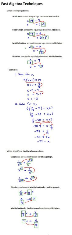 Fast Algebra Techniques More on Mathematics and Le .- Fast Algebra Techniques Mehr zur Mathematik und Le… – Fast Algebra Techniques More on Mathematics and Le … – - Maths Algebra, Calculus, Algebra Help, Math Math, College Math, College School, Math Formulas, 8th Grade Math, Ninth Grade