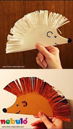 Hedgehog paper plate craft for kids