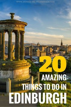 A massive list of the 20 best things to do in Edinburgh. These are the top Edinburgh landmarks. All the top attractions and highlights with useful links. Find out more about the Edinburgh points of interest here.