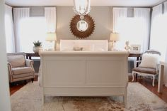 this is the same sleigh bed i have...from big lots...she painted it! UM HELLO! WHY DIDN'T I THINK OF THAT!!!
