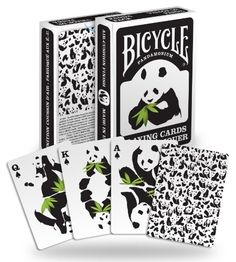 Panda playing cards just $4.99 from www.pandathings.com