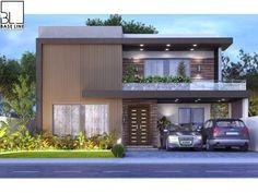 Home Design Plans, Plan Design, Architecture Plan, Amazing Architecture, Architectural House Plans, Unique House Design, House Elevation, Modern House Plans, House 2