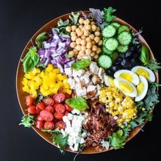 The classic Chopped Salad reinvented with an extra dose of color and a spicy tomato vinaigrette!