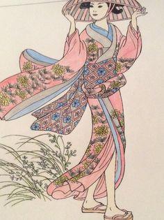 All completed  #kimono #geisha #japan #art