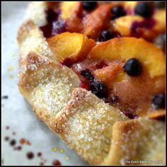 Peach and Blueberry Galette - Recipe Detail - BakeSpace.com