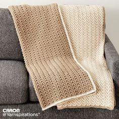 Crochet Texture Lap Blanket| Crochet | Charity | Let's Make a Difference | Free Pattern | Yarnspirations