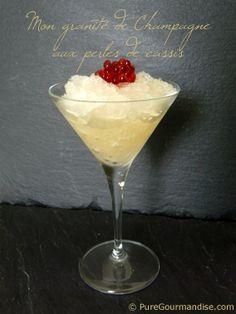 Granité de champagne aux perles de sirop Monin - www.puregourmandise.com