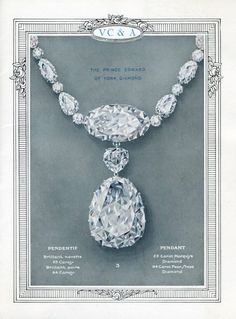 Van Cleef & Arpels catalogue featuring a 64 carats diamond of Prince Edward of York, circa 1920. Van Cleef & Arpels Archives