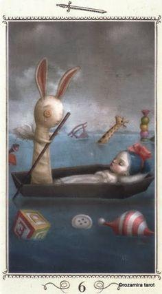 Six of Swords - Nicoletta Ceccoli Tarot by Nicoletta Ceccoli