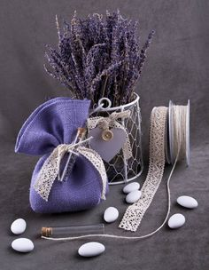 Λιλά μπομπονιέρα λεβάντα! Princess Prom Dresses, Favor Bags, Bucket Bag, Favors, Lavender, Shabby Chic, Wedding Day, Rustic, Handmade