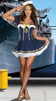 Sexy Navy Pin Up Sailor Costume – Salute Our Veterans by Supporting … - Frauenstreet style Mens Sailor Costume, Sailor Jupiter Costume, Sailor Halloween Costumes, Cute Costumes, Halloween Outfits, Girl Costumes, Costumes For Women, Adult Costumes, Costume Marin