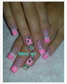 Cute Nail Art Designs, French Nail Designs, Colorful Nail Designs, Toe Nail Designs, Beautiful Nail Designs, Cute Nail Colors, Queen Nails, Magic Nails, Diva Nails