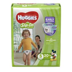 HUGGIES Little Movers Slip-On Diaper Pants, Size 5, 20 Diapers