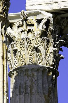 File:Corinthian Column Detail - Temple of Olympian Zeus (Athens).jpg