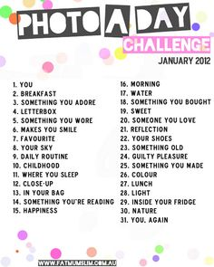 Photo a Day Challenge - January