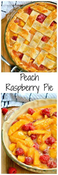 Savor something sweet with this Peach Raspberry Pie! Tart raspberries and sweet peaches make it the perfect summer treat!