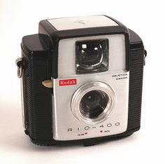 Kodak Rio-400    The Kodak Rio-400 was made in Brazil in 1965 to commemorate the 400th anniversary of Rio de Janeiro. It's a special version of the Brownie Bullet II, which itself was a later version of the Brownie Starlet, without flash contacts.